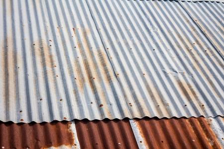 corrugated steel: Old zinc roof