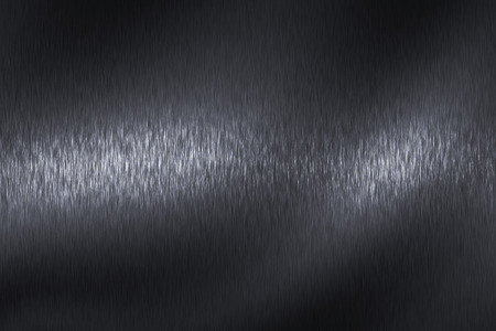 brushed steel: light on black steel texture surface