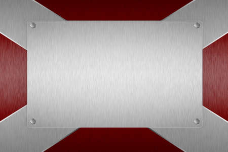 Steel plate red background