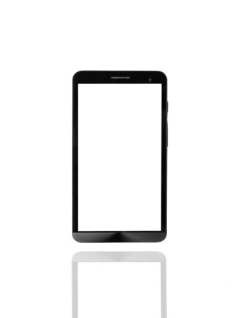 android tablet: Smartphone on isolated background Stock Photo