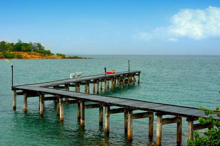 harbor bridge wooden
