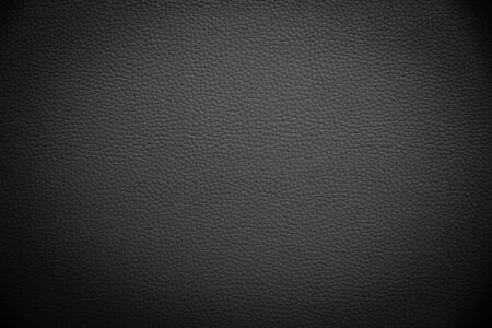 black artificial leather background texture Stock Photo