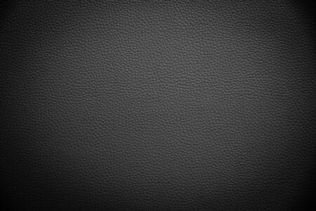 trama di sfondo in pelle artificiale nera Archivio Fotografico