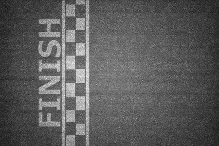 finishing line in competition concept Stock Photo
