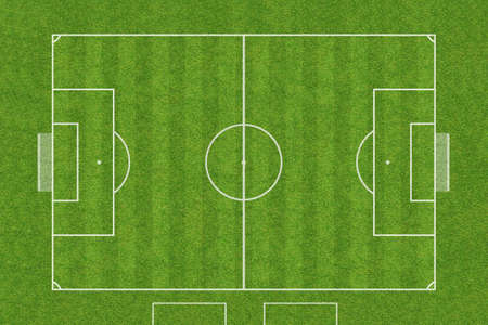 top view of soccer field Stock fotó