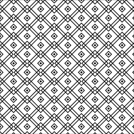 Vector seamless pattern. Modern stylish texture. Repeating geometric tiles with smooth rhombuses  イラスト・ベクター素材