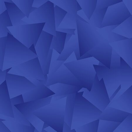 Abstract background of triangular elements with a blue gradient. Blurred blue background, vector.