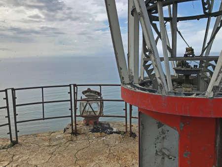 lighthouse on the island of Sakhalin Stockfoto