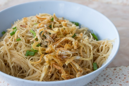 phuket food: local Phuket food Vermicelli rice noodles with short ribs