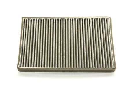 very dirty: a deteriorate of car air filter has dust and very dirty Stock Photo