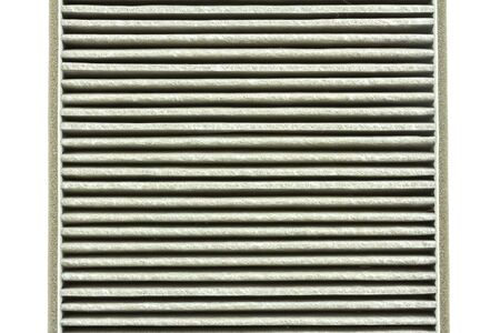 a deteriorate of car air filter has dust and very dirty Stock Photo