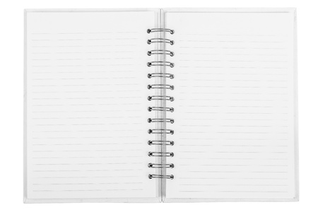 opened line notebook photo