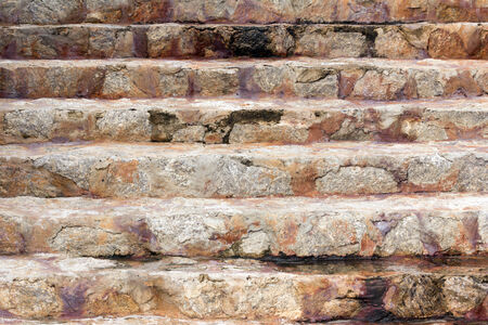 close-up old Stone Stairs photo