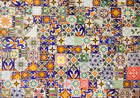 cerámicas: Resumen azulejos de cerámica retro