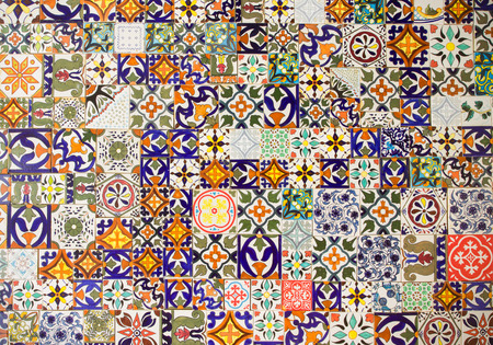 retro abstract ceramic tiles patterns