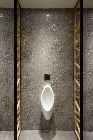 luxury interior of men public restroom photo