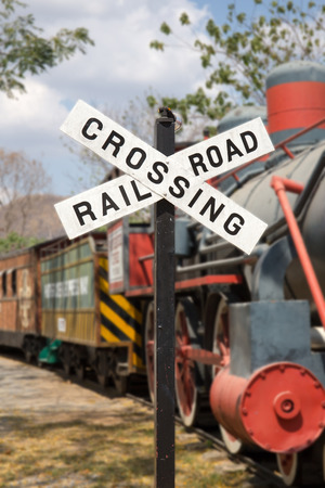 Rail Road Crossing sign photo