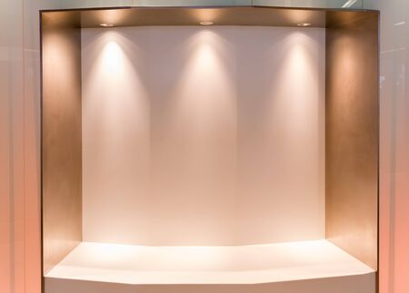 Blank wall and interior lighting. photo