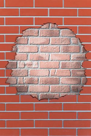 no way out: brick hole with no way out Stock Photo
