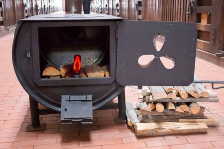 woodburner: Old fireplace Stock Photo