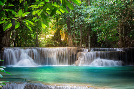 wonderful thailand: Thailand waterfall in Kanchanaburi (Huay Mae Kamin)