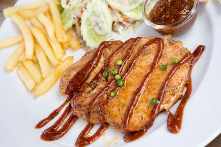 grilled pork chop: grilled pork chop (neck cut)