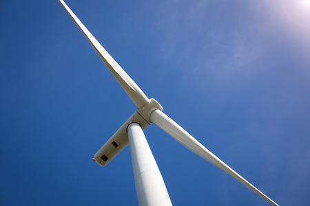 vane: Wind Turbine with Sunlight Stock Photo