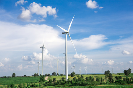 wind mill: Wind Turbine Farm Stock Photo
