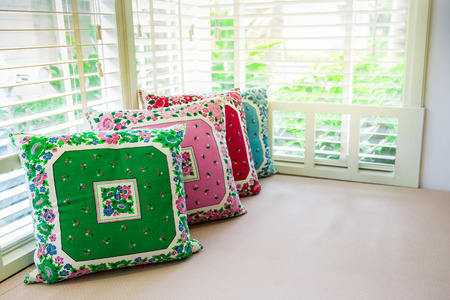 day bed: pillows on day bed with sunlight