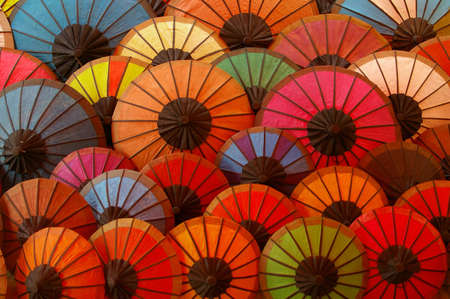 Traditional Parasols Market Stock Photo