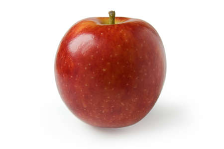 Shiny red apple isolated on the white background