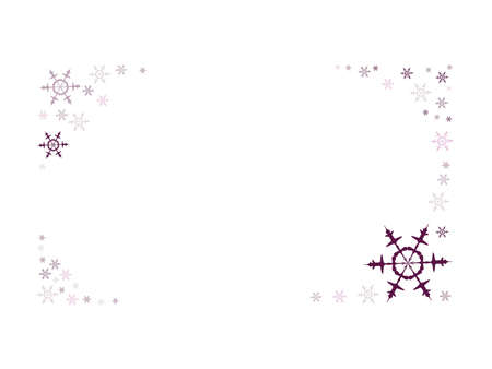 Rectangular frame formed by many snow flakes Illustration