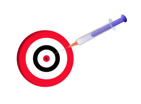 Blue injection in the target Illustration