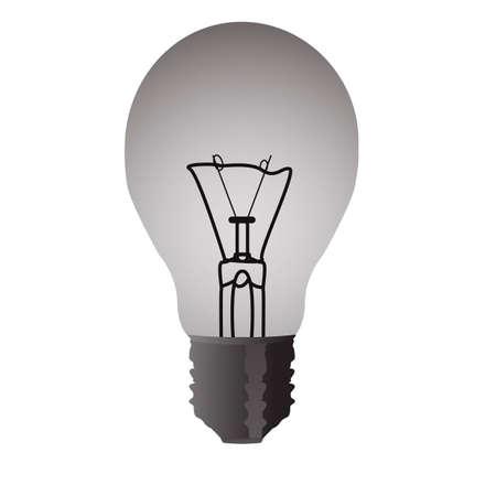 bombillo ahorrador: Bombilla el�ctrica transparente aislado en el fondo blanco Vectores