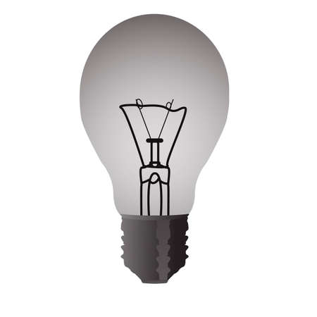 Light transparent electrical bulb isolated on the white background Illustration