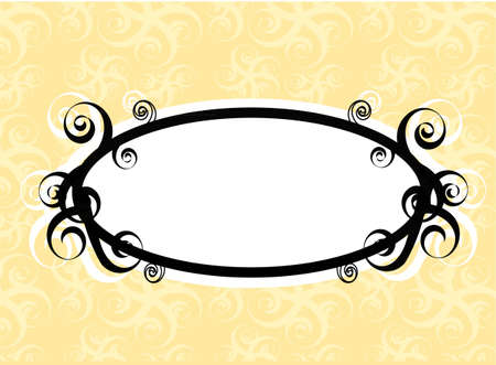 Swirls oval frame Illustration