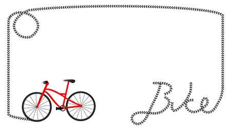 cycling race: Bike frame