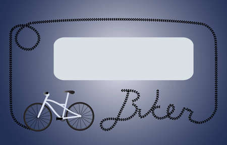 Biker dark blue frame Illustration