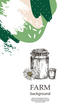 Sample cover for agricultural brochure. Çizim