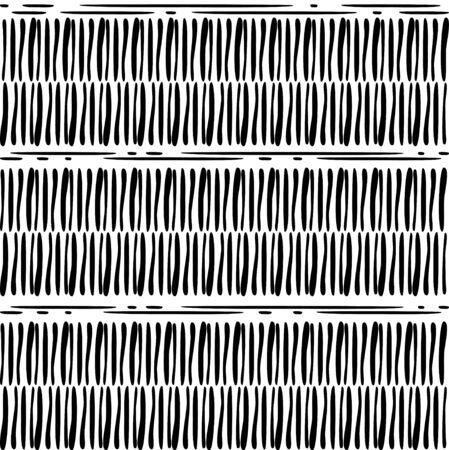 Naadloze achtergrond. Geometrische compositie. Zwart-wit abstracte achtergrond. Vector Illustratie