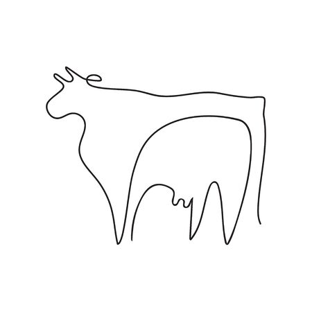 Farm animal graphics in a minimalistic style. Cattle. 스톡 콘텐츠 - 129771657