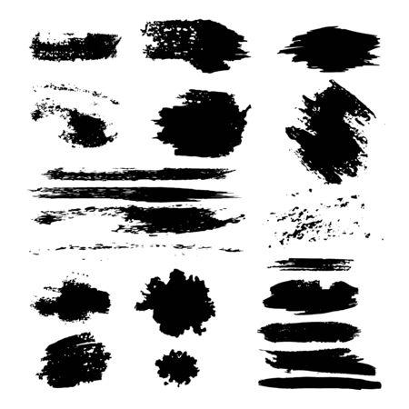 Big set of vector blots. Abstract ink spots.