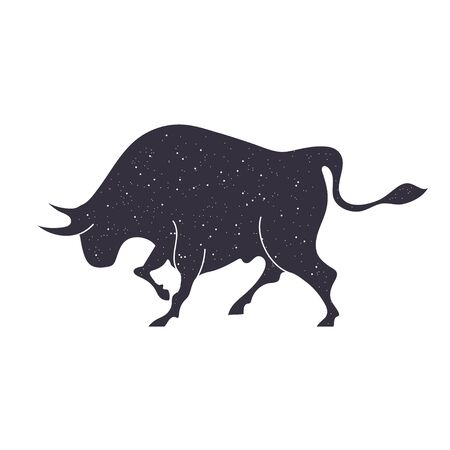 Zodiac sign Taurus. The symbol of the astrological horoscope.