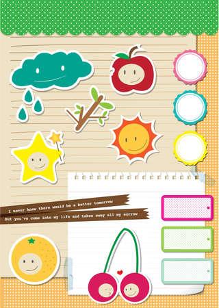 Cute Scrapbook Elements  Vector