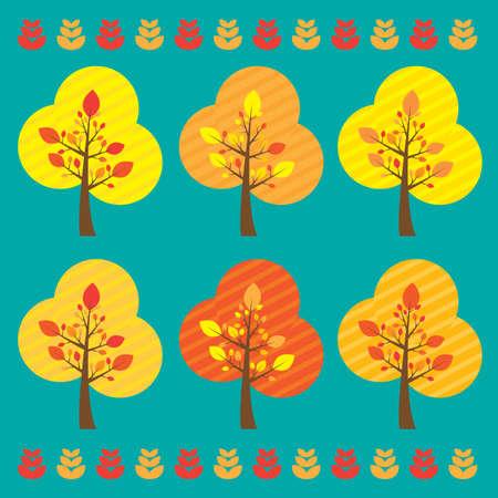 cute tree elements Vector