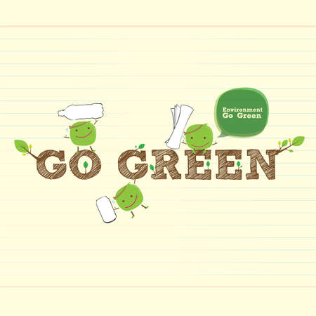 go green bean for better environment Vector