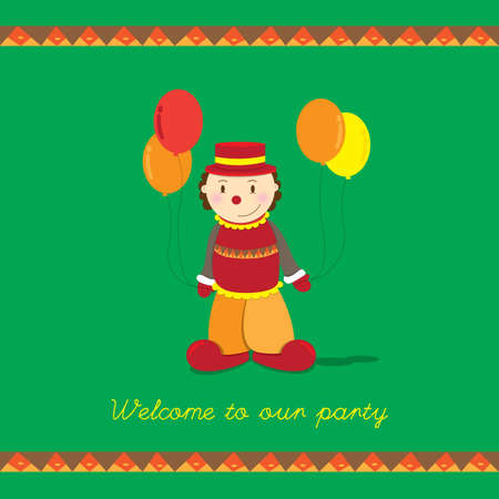 welcoming party invitation card Vector