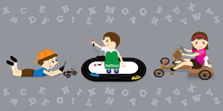 kids have fun in school holiday Vector