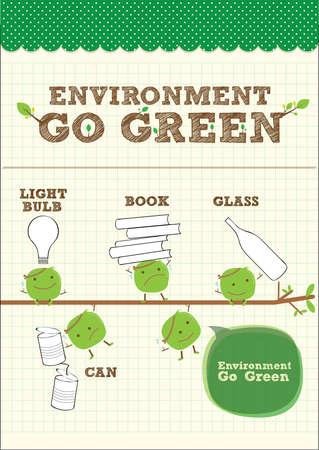 recycle area: go green bean for environment