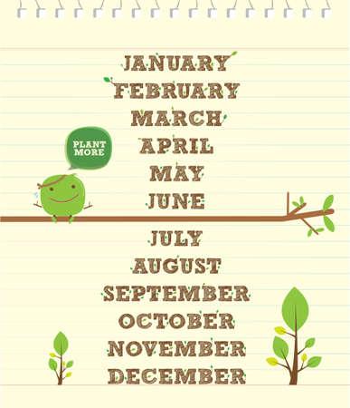 handwritten alphabet for calendar